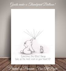 elephant and bunny baby shower guestbook alternative for