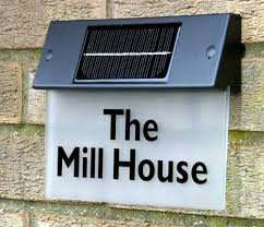 solar cing lights uk new solar operated house sign light launched future