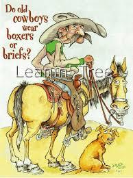 leanin tree boxers or briefs cowboy birthday card 14462 buffalo