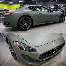 matte green maserati wrapped melbourne