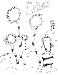 dr seuss lorax coloring page getcoloringpages com