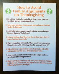 how to avoid family arguments on thanksgiving pleated