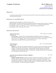 Computer Technician Resume Samples by Tech Resume Objective