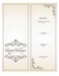 best solutions of free christmas card templates for christmas menu