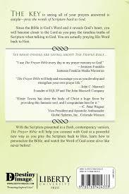 the prayer bible a modern translation elmer towns roy b zuck