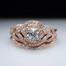 wedding ring bridal set infiniti 83ctw gold engagement ring wedding band