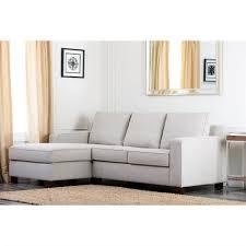 Abbyson Sectional Sofa Abbyson Living Fabric Sectional Sofa In Gray Abbyson