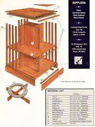 Bookshelf Woodworking Plans by Rotating Bookshelf Plans U2022 Woodarchivist