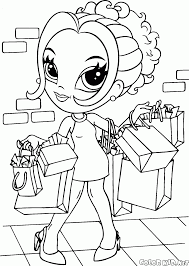 coloring page with scarf