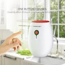 homasy portable mini dehumidifier 22w whisper quiet air dryer for