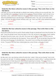 underline the collective nouns worksheet turtle diary