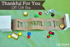 thanksgiving crafts thankful for you gift box tutorial