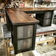 Rustic Desk Ideas Rustic L Shaped Desk Made From Reclaimed Wood By Crtcreative