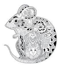 coloring page of a rat un coloriage de souris pas comme les autres a vos crayons