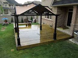 Small Backyard Deck Ideas by Deck Designs Stylish Backyard Platform Deck Canopy Design Some
