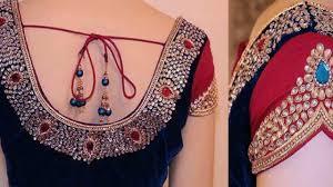 dailymotion blouse designer mirror work blouses dailymotion