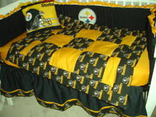 Steelers Bedding Crib Bedding Nursery Set Made W Pittsburgh Steelers Fabric Ebay