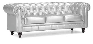 Tufted Sofa And Loveseat by Amazon Com Zuo Modern Aristocrat Sofa Silver Kitchen U0026 Dining