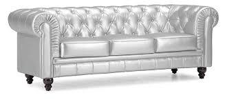 Furniture And Sofa Amazon Com Zuo Modern Aristocrat Sofa Silver Kitchen U0026 Dining