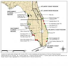Map Southwest Florida by Manatees And Warm Water Refuges Marine Mammal Commission