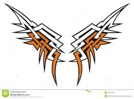 wings tribal stock vector illustration of illustration 19420738