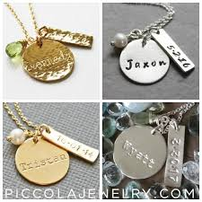 Baby Name Necklace Gold Personalized Gold Baby Name Necklace With Birthdate New Mom Gift