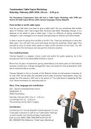 toastmasters table topics contest questions table topics workshop 20 february 2016 nuremberg toastmasters