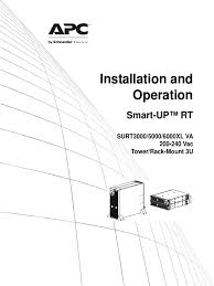 operational manual apc surt5000 battery electricity