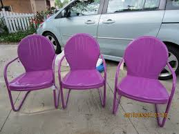 Metal Lawn Chairs Old Fashioned by Furniture Vintage Metal Patio Chairs Powdercoated In A Fun Color