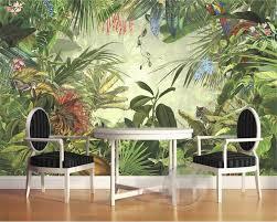 popular rainforest wall murals buy cheap rainforest wall murals beibehang room decoration wall mural 3d wallpaper european style retro painted rainforest animal tiger parrot photo wallpaper