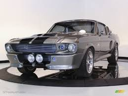 Black Mustang 1967 1967 Grey Metallic Ford Mustang Shelby G T 500 Eleanor Fastback