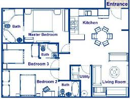 simple tiny house plans 3 bedroom 976 sqft plan bedrooms to design