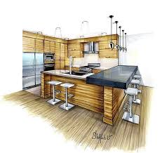 interior sketches kitchen design kitchen perspective rendering interior design