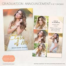 senior graduation invitations senior graduation announcement template for photographers psd flat