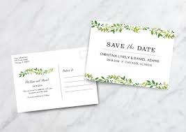 wedding postcards save the date card postcard floral save the date postcard wedding