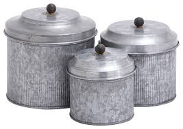 kitchen canisters and jars galvanized metal 3 pc canister set industrial kitchen