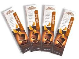 gourmet orange truffle filled chocolate bars