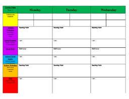 editable weekly lesson plan template u2013 calendar