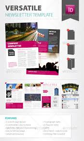 versatile newsletter template newsletters print templates