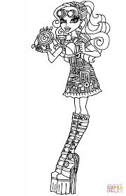 monster high robecca steam coloring page free printable coloring