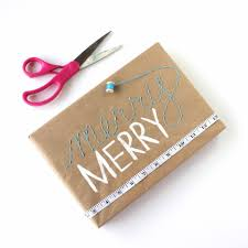 embroidered gift wrap and 24 kraft paper wrapping ideas lines across