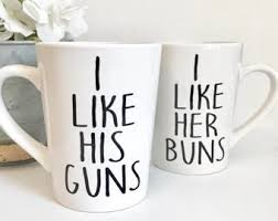 his and hers mug i like his guns i like buns 14oz coffee mug set coffee