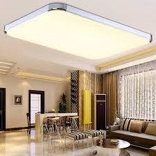 Wohnzimmer Lampen Bei Ikea Sailun 48w Warmweiß Led Modern Deckenleuchte Deckenlampe Flur