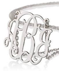 Monogram Necklaces Silver Silver Monogram Necklaces