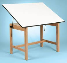 Drafting Table Mat Alvin Titan Office Height Wooden Drawing Table 31x42 Top