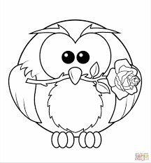 owls owl coloring coloring pages free cartoon owl page printable