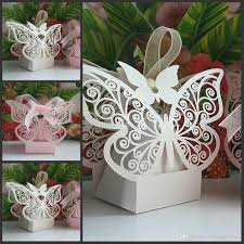 2015 new wedding favor butterfly laser cut wedding candy boxes