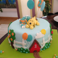this cake was totally inspired by another wonderful puppy dog cake
