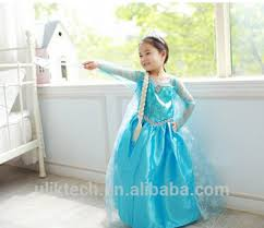 baby halloween costumes cosplay elsa dress with fake braid and