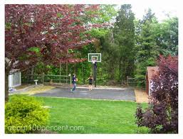 mesmerizing small backyard basketball court dimensions pics